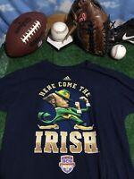 Rare ND Notre Dame fighting Irish shirt Adidas large T-shirt BCS 2013 C14