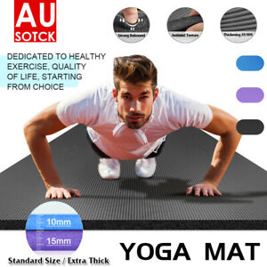 Thick Yoga Mat Exercise Mat NBR Non-Slip Gym Fitness Pilates Workouts Pad Mats