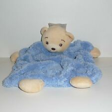 Doudou Ours Kaloo - Collection plume bleu