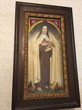 "RARE! OLD! St. Theresa Of Lisieux 22"" Catholic Christian Religious Saint Statue"
