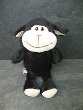 peluche doudou mouton noir marron 25 cm kinder