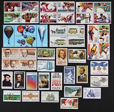 US 1983 Commemorative Year Set 47 stamps Mint NH includes Airmail C101-112