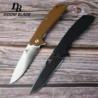 """7.9"""" FH11 60-61HRC Knives Ball Bearing D2 Blade G10 Folding Knife Hunting Tool"""