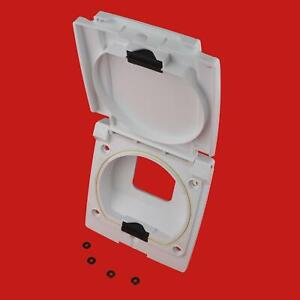 Bullfinch External Socket Outlet Utility Point Box Caravan Motorhome 6093 White