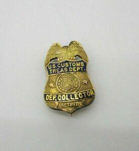 Vintage Used Obsolete U.S. CUSTOMS TREASURY DEPT DEPUTY COLLECTOR RET MINI 10KGF