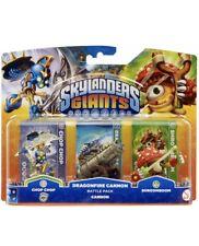 Wii Skylanders Giants Triple Battle Pack Figures Chop Chop Cannon Shroomboom NEW