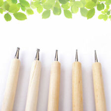 5Pcs 2 Way Nail Art Wooden Handle Dotting Pen Manicure Marbleizing Painting Tool
