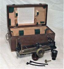 1942 Schick Us Navy Buships Stadimeter Navigational Instrument In Original Case