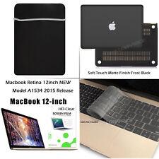 4-IN-1 For NEWEST 12'' MacBook Retina Matte Hard Case Sleeve Bag+Keyboard +Film