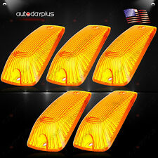 5 Roof Running Light Cab Marker Amber Cover Top Lamp Lens For1988-2000 Chevy GMC