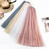 3Layers Lace Maxi Long Tulle Skirt Party Skirts Women's Adult Tutu Ball Gown New