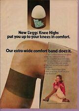 1974 Magazine Advertisement Page Leggs Knee High Lingerie Woman Ad