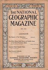 1912 National Geographic May - Kenai Alaska giant moose; salmon; CA Seed farms