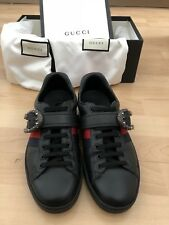 5e3346a2eb2 GUCCI SNEAKERS BLACK WITH DIONYSUS BUCKLE UK SIZE 9