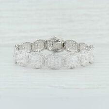 ".54ctw Diamond Pave Bracelet - 10k White Gold 7"" Ornate Openwork"