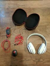 Beats by Dr. Dre Studio 3 Wireless Over Ear Headphones - White & Red Accents