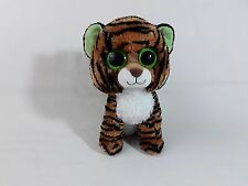 TY BEANIE BOO'S COLLECTION STRIPES THE TIGER PLUSH SOFT TOY WILD ANIMAL ZOO