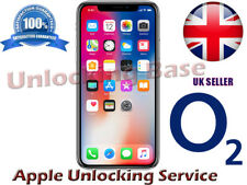 SUPER FAST O2 / TESCO UK FACTORY UNLOCK SERVICE  FOR  IPHONE  X  8 / 8 PLUS