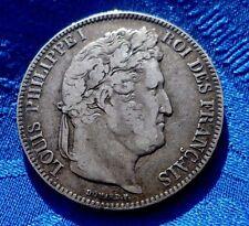 RARE MONNAIE 5F ECU  EN ARGENT LOUIS PHILIPPE I ROI DES FRANçAIS 1843 K