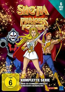 She-Ra - Princess of Power - Komplette Serie - Folgen 1 - 93 DVD 6 Disc Set