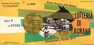 BIGLIETTO DELLA LOTTERIA DI AGNANO 1977 SERIE I  - C8-660
