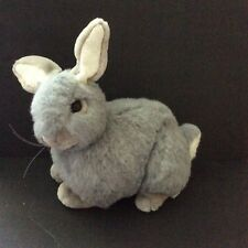 Vintage Gray Bunny Rabbit Lg Size Plush Very Realistic Perfect for Easter