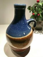 "Art Pottery Stoneware Jug Vase Signed 8"" Tall  A-06"