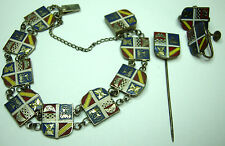 40s Saint Francis Xavier Catholic Church Enameled Bracelet, Earrings - Shanghai