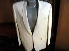 Vtg 1950s Palm Beach Linett White Tuxedo Padded Shoulder Blazer Jacket sz 42