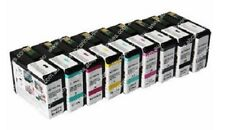 9 x INK Cartridges Set for Epson Stylus Pro 3800 je 80ml INK Cartridges - NEW
