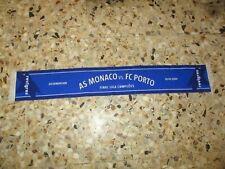 echarpe scarf football AS MONACO FC PORTO 2004 FINALE Champions league UEFA C1