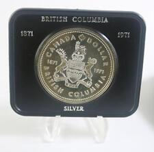 Canada 1971 Silver proof dollar coin British Columbia
