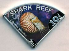 SHARK REEF - AUSTRALIA 10 DOLLARS $ 2017 NAUTILIUS - COLOR COIN  PROOFLIKE