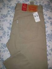 Levis 512 Slim Taper Fit 36x32 Mens Corduroy Jeans Size 36 x 32 Tan / Beige NWT