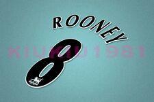 Manchester United Rooney #8 PREMIER LEAGUE 97-06 Black Name/Number Set