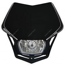 Mascherina Faro Anteriore Racetech Rtech V-Face Nero Universale Moto Headlight