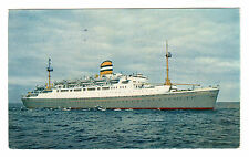 SS Maasdam - Holland America Line Photo Postcard 1956