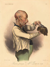 "Honore Daumier Reproductions: ""A famous wig"": Fine Art Print"