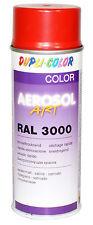 6x dupli Color lata de aerosol Art RAL 3000 ROJO FUEGO SEDA MATE Rociador