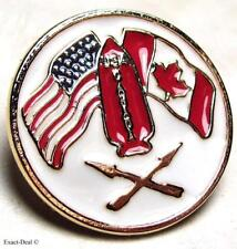 Canadian & American Fighters Airborne  FSSF The First Special Service Force Pin