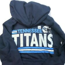 NFL Tennessee Titans Mens Pullover Hoodie Athletic Navy Size S Junk Food New