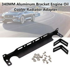 340MM Aluminum Bracket Engine Oil Cooler Radiator Adapter Black Set Universal