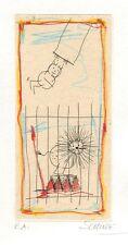 """Wilhelm sopraggiunse, """"il trapezio"""", 2001 acquaforte, firmato a mano"""