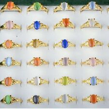 20pcs Elegant Women Faux Gem Stone Gold Plated Rings Wholesale Lots Jewelry