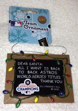 Houston Astros 2017 World Series CHAMPS Champions CHALKBOARD Christmas Ornament