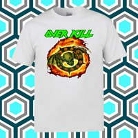 Overkill Logo T-Shirt Funny Birthday Cotton Tee Vintage Gift For Men Women