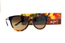 Maui Jim SUNSHINE HS725-65 Tortoise w Navy Blue Sunglasses Polarized HCL Bronze