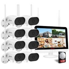 HD Video Funk Überwachungssystem IP Video Überwachungskamera Set mit 12''Monitor