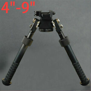 "4""-9"" Rifle Bipod QD Tactical Picatinny Rail Flat Spring Adjustable Hunting UK"
