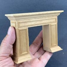 Traditional Design Dollhouse Miniature Fireplace Mantle Wood 1/12 Scale
